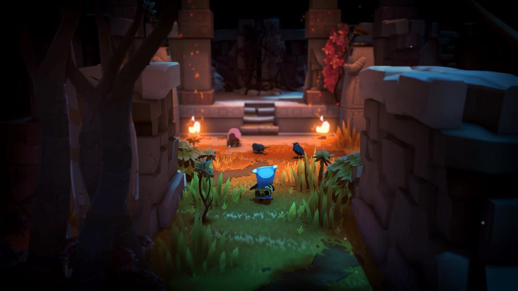 Dans The Last Campfire il faut ouvrir les portes pour passer d'un niveau à l'autre