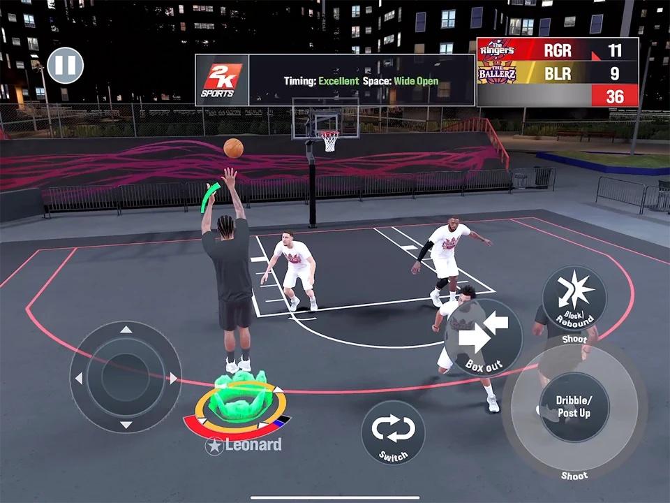 Le mode bitume de NBA 2K21 Arcade Edition
